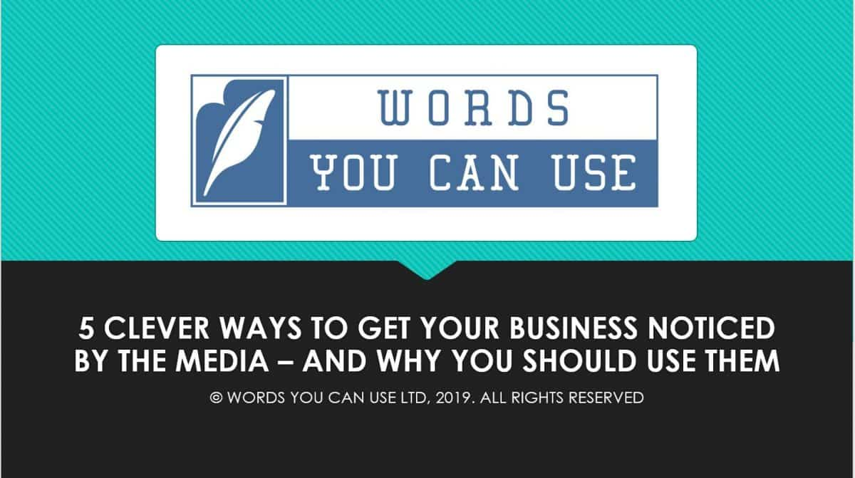 5 clever Ways to get noticed by the media | Swansea Digital Marketing meetup