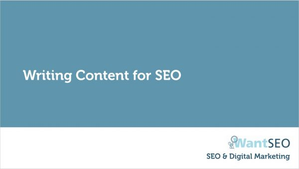 writing content for seo | Swansea Digital Marketing meetup