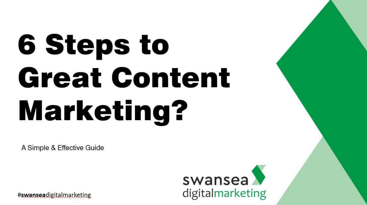 6 steps to great content marketing | Swansea Digital Marketing meetup