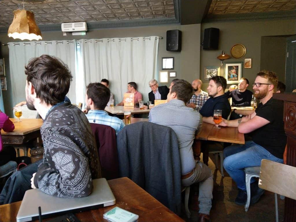 Kenon Man speaking at Swansea Digital Marketing meetup